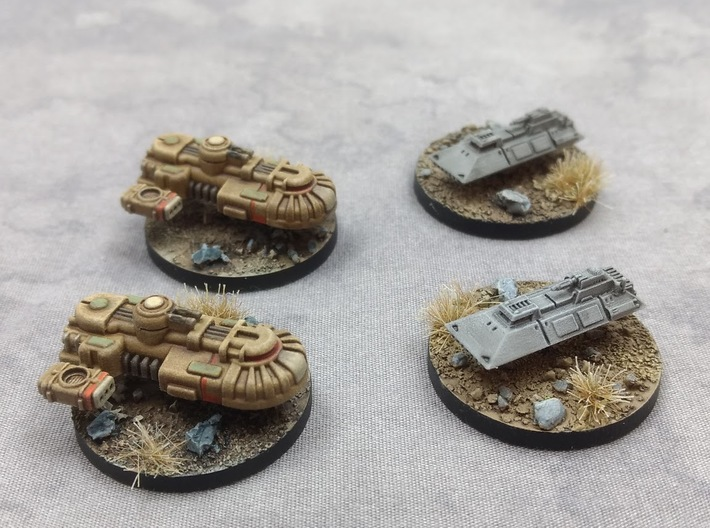 1/270 Rebel T1A Tanks (3) 3d printed Shown with Imperial 1-L tanks.
