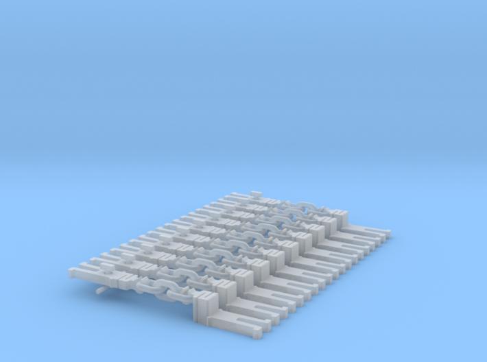 NEM OO Type 10 Couplings - Adaptor 3 Link x10 3d printed