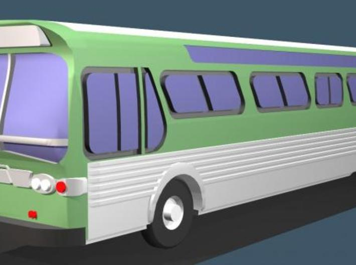 GM FishBowl Bus - Z Scale 3d printed Color Render