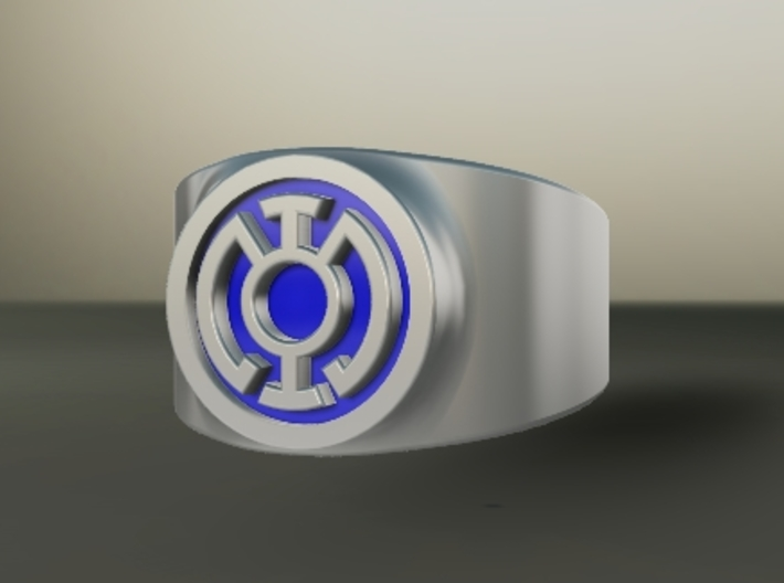 Blue Hope GL Ring (Szs 5-15) 3d printed Custom Enameled
