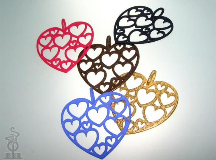 Heart of hearts pendant  3d printed