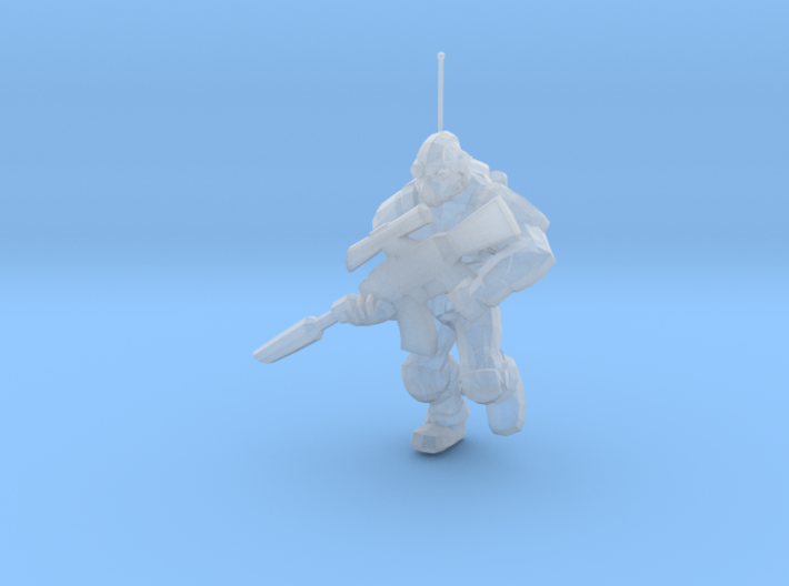 1/60 SC Ghost Soldier Running 3d printed