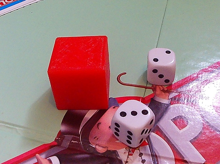 6 numbered dice  3d printed