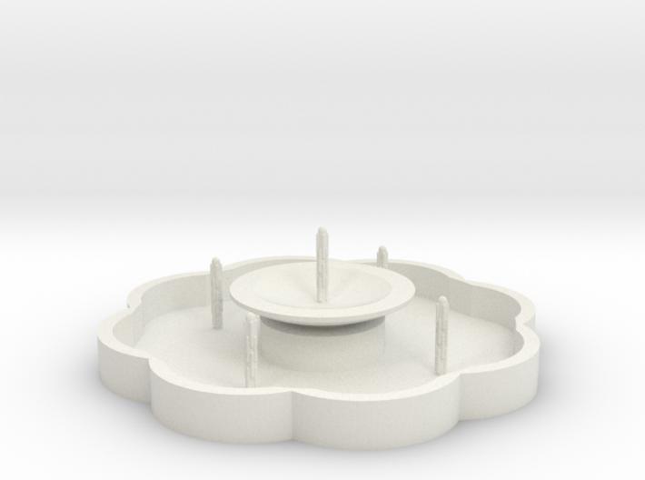 Zierbrunnen mit 5 Fontainen - 1:120 3d printed