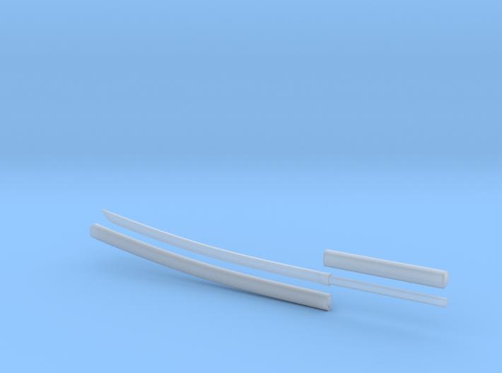 Katana - 1:6 scale - Curved Blade - Plain 3d printed