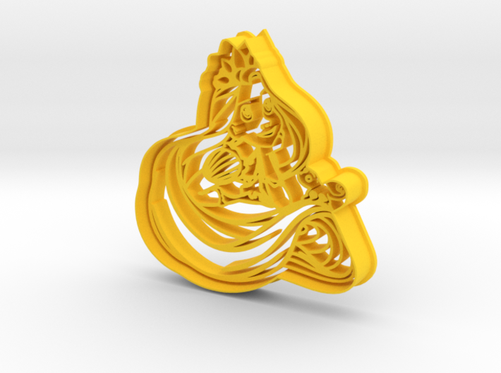 Rapunzel Cookie Cutter from Tangled 3d printed