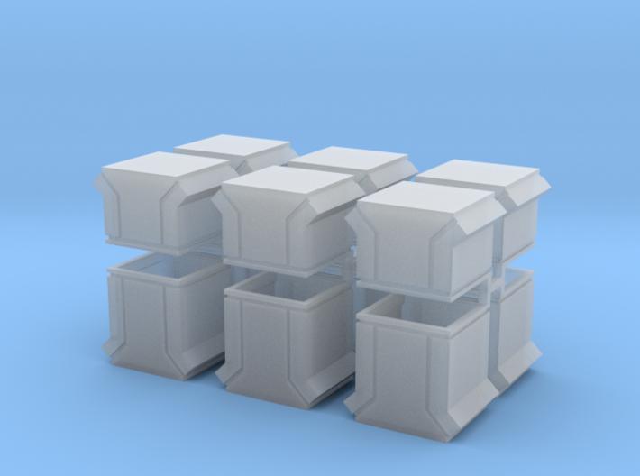 Dachlüfter 12erSet Typ 3 und 4 modern 1:120 3d printed