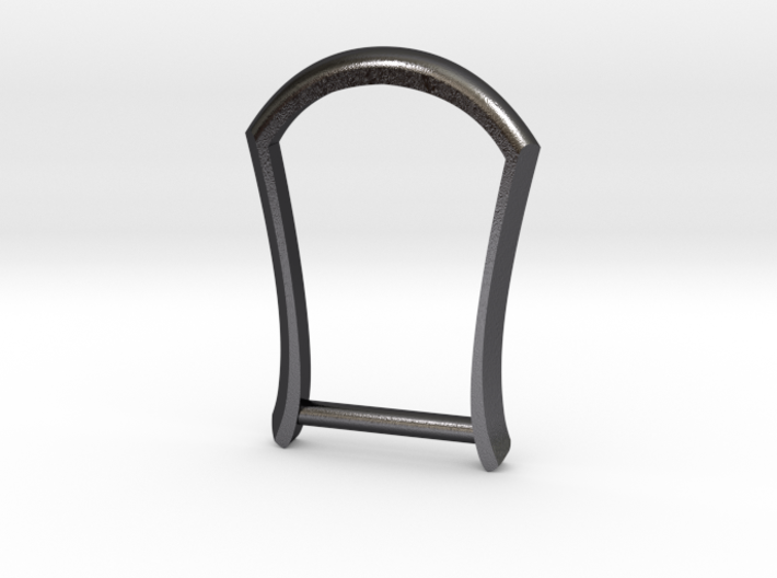 "1"" Long Buckle Frame, Plain - STEEL 3d printed"