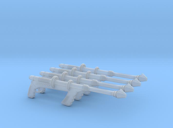 """""""Space Angel"""" Taurus' Blaster (1:18 Scale) 4 Pack 3d printed"""