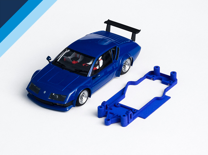 1/32 Avant Slot Alpine A310 Chassis for Slot.it AW 3d printed Chassis compatible with Avant Slot Alpine Renault A310 body (not included)