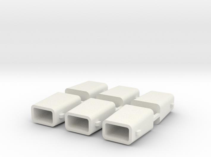 set4792 Stahlkokille 2 Zapfen Längs mit Boden 6erS 3d printed