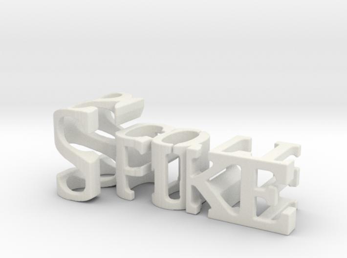 3dWordFlip: Spike/Scott 3d printed