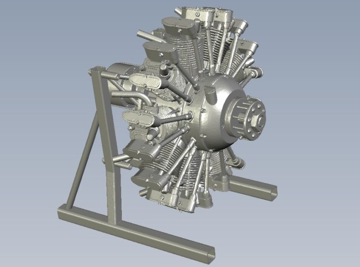 1/10 scale Wright J-5 Whirlwind R-790 engines x 3 3d printed