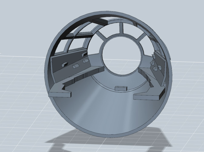 YT1300 MPC CABIN CONE WITH SIDE CONSOLE  3d printed Millennium Falcon cabin cone with side consoles, render.