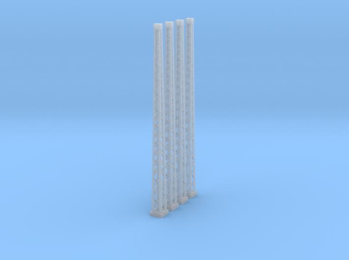 4x genieteter Winkelmast (Epoche I - TT 1:120) 3d printed