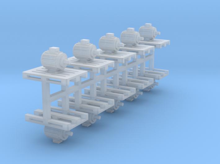 Elektromotoren auf Europalette 10er Set 1 - 1:120 3d printed