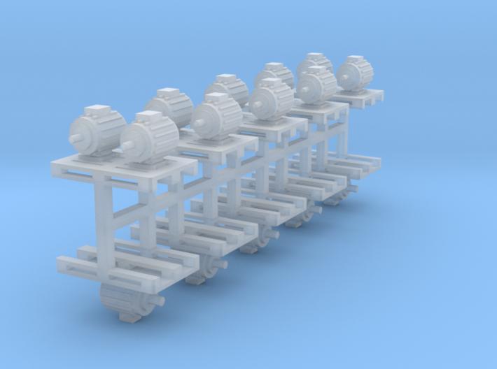 Elektromotoren auf Europalette 10er Set 3 - 1:120 3d printed