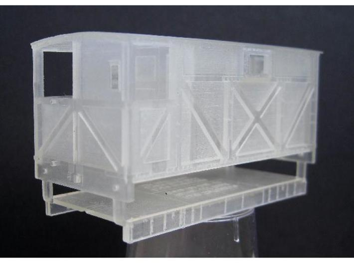 NSR 10ton Brake Van body single window - 4mm scale 3d printed