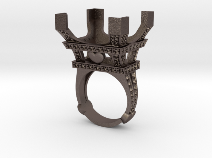 The Eiffel Tower wedding ring engagement ring love 3d printed