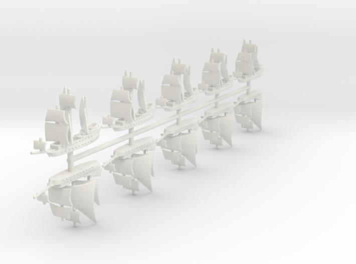 1/2000 Pirate Ship Game Pieces 3d printed