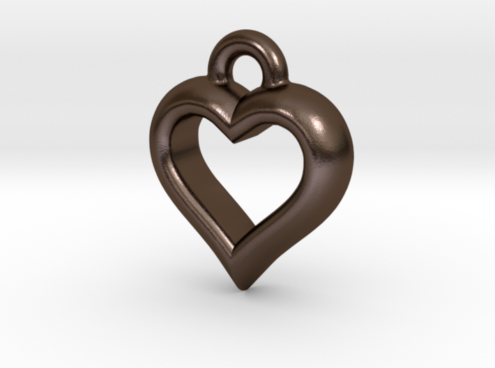 Hearty Little Heart (steel_pendant) 3d printed