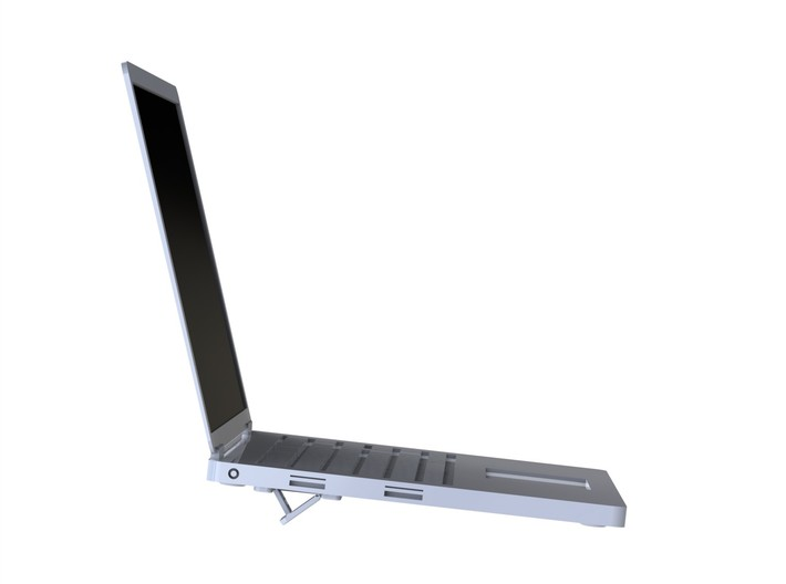Slim Quick-stand For A Laptop 3d printed