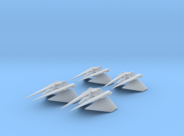 Narn Toreth Gunboat 4 Pack Full Thrust Scale 3d printed