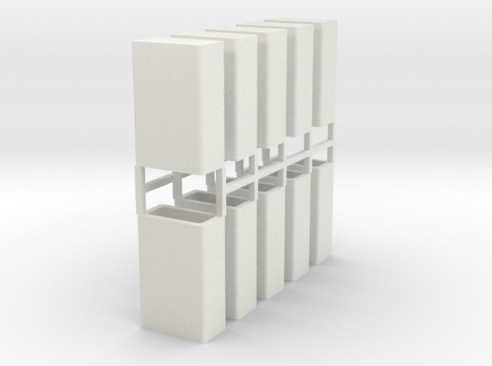 Stahlbrammen stehend 10er Set - 1:120 3d printed