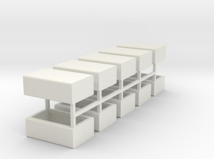 Stahlbrammen liegend 10er Set - 1:120 3d printed