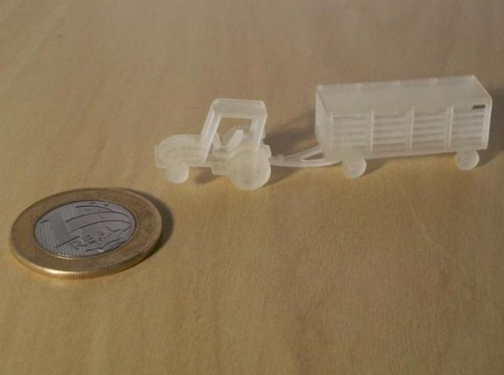 007A 1/144 Tractor & Trailer 3d printed Printed in Transparent Detail