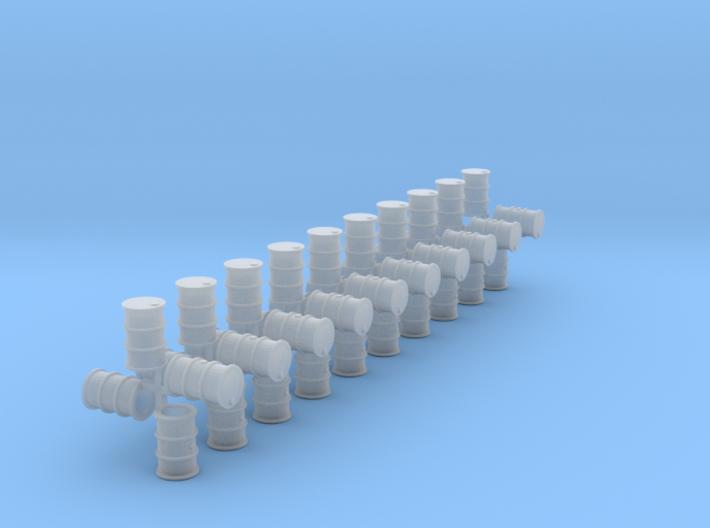 200 Liter Fässer 40er Set hohl - 1:120 3d printed