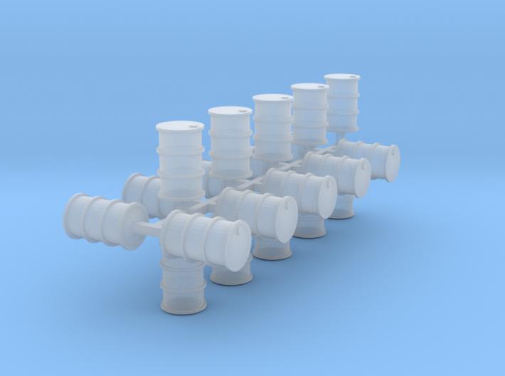 200 Liter Fässer 20er Set Vollmaterial - 1:120 3d printed
