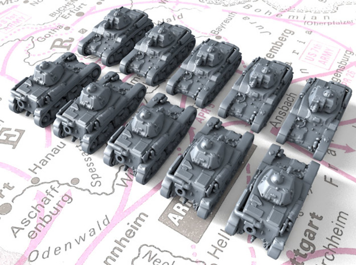1/700 French Renault R35 Light Tank x10 3d printed 1/700 French Renault R35 Light Tank x10
