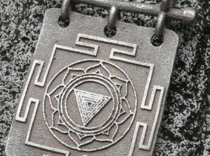 Kali Yantra Pendant 3d printed Stainless Steel 2