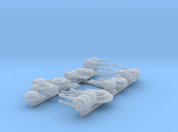 1/270 Turret Variety Pack 3d printed