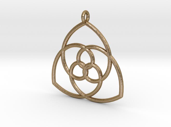 Gielis' Curve Pendant 3d printed