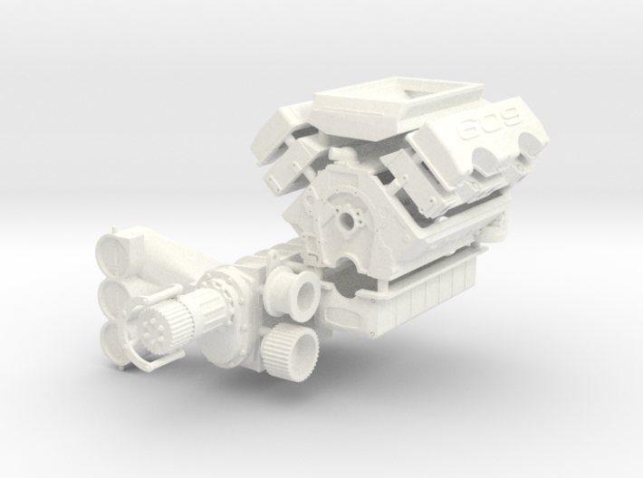 Brodix 1/12 609 Engine 14-71 Blower 3d printed
