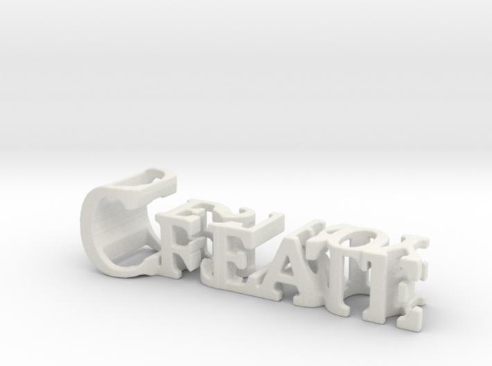 3dWordFlip: Create/Destroy 3d printed