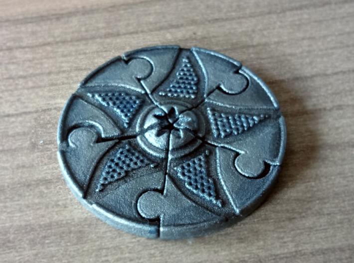 Clue Marker set for Arkham Horror 3d printed This is how it looks after a coat of silver paint and some washes