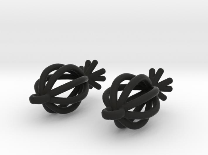 Lantern Shaped Earrings 3d printed