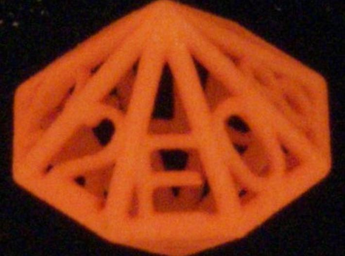 Piped Hex Die 3d printed Photo provided courtesy of dicecollector.com