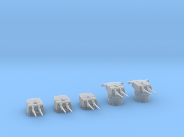 1/600 IJN Type 50 year 3 turrets (8-inch) 1944 Set 3d printed