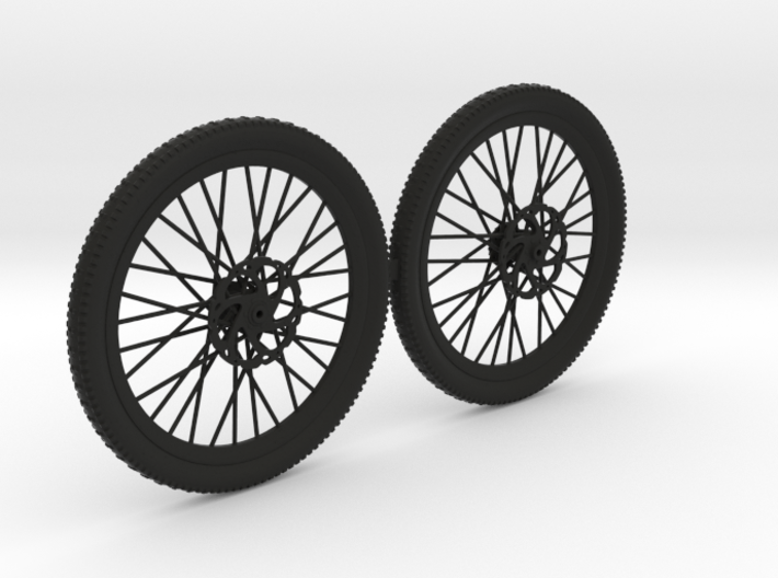 BK10002 MTB DH wheel set 01 3d printed