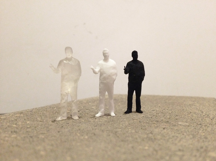Architectural Man - 1:50 - Presenting  3d printed Frosted Ultra Detail, White Strong & Flex, Black Strong & Flex
