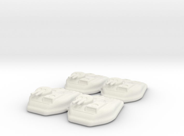 6mm Scale Sci-Fi Hover Tank (Set of 4) 3d printed