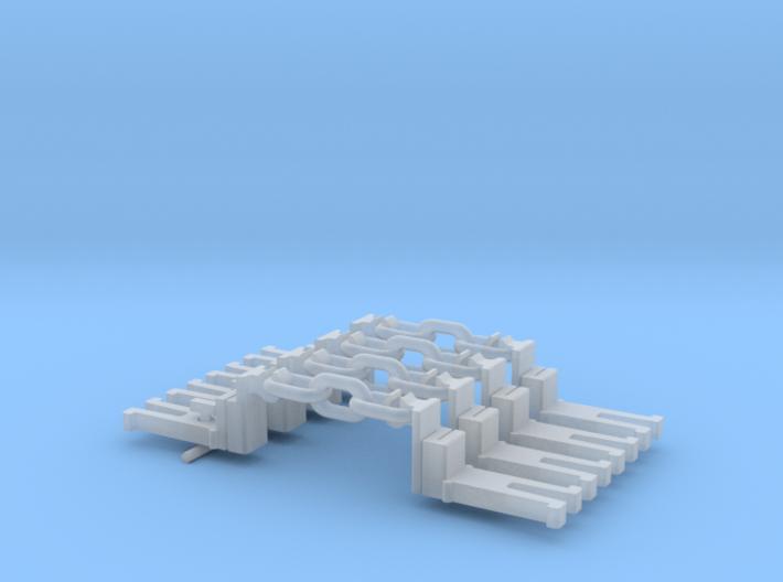 NEM OO Type 43 Couplings - Big-Step Up 3 Link x4 3d printed