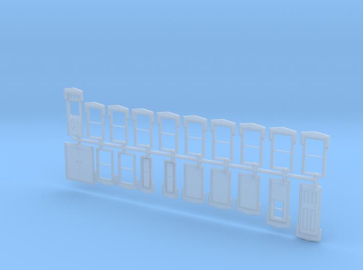NYC Lake City Depot Doors and Windows 3d printed
