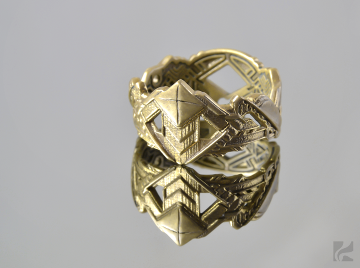 Art Deco Ring #1 3d printed