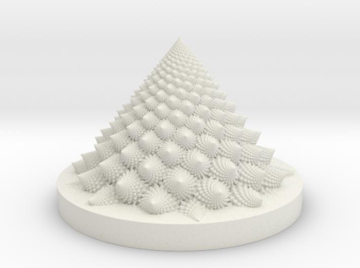 Romanesco fractal Bloom zoetrope (backwards) 3d printed