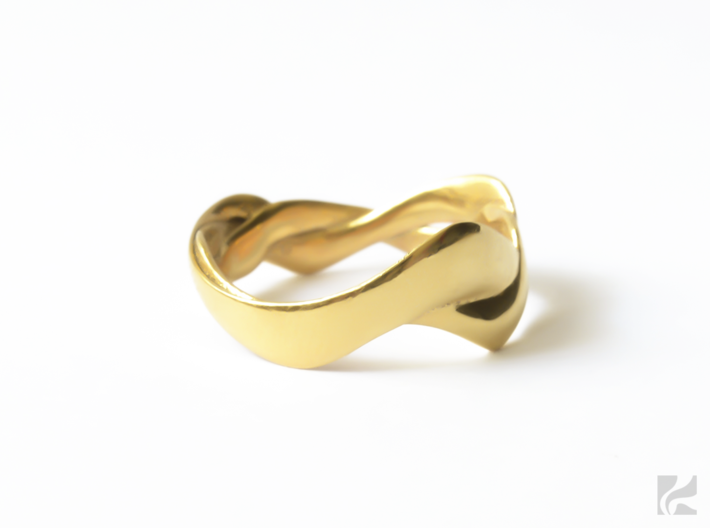 Smooth Weave Ring 3d printed